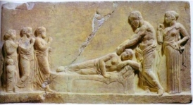 Relief-of-Asklepios-healing-a-dreamer